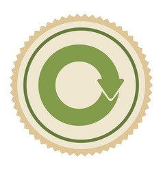 Green emblem of cycle icon vector