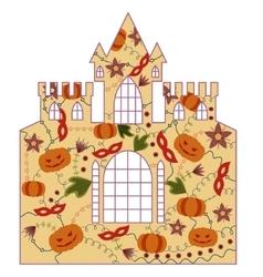 Halloween castle retro vector image vector image