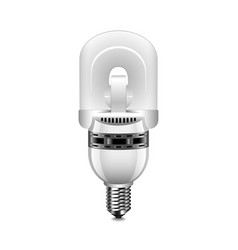 induction light bulb isolated on white vector image