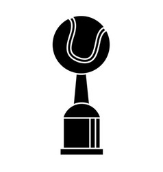 trophy tennis sport image pictogram vector image