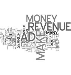 Ad revenue text word cloud concept vector
