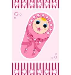 baby girl card 1 vector image