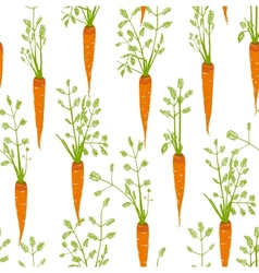 Carrots Freehand Drawing Seamless Pattern vector image vector image
