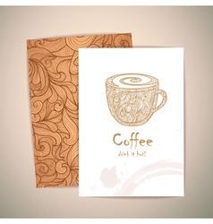 coffee concept design Corporate identity vector image vector image