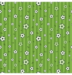 Football seamless pattern with soccer ball vector image