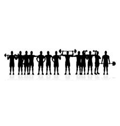 gym men vector image