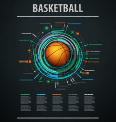 infographics for basketball vector image vector image