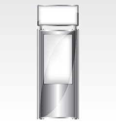 Trade exhibition metal stand vector image vector image