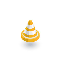 traffic cone isometric flat icon 3d vector image vector image