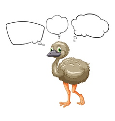 A small ostrich vector image