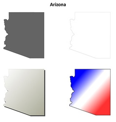 Arizona outline map set vector image vector image
