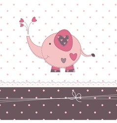 Baby background with cute elephant vector image