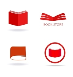 Book store or library logo sign vector image
