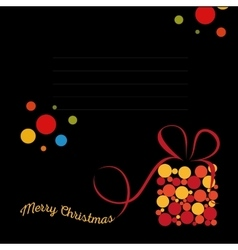 Isolated abstract colorful merry christmas vector image vector image