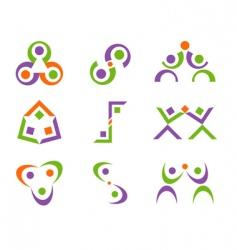 people logo designs vector image