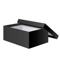 Realistic Black blank Package Box Opened with the vector image vector image
