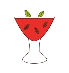 tropical cocktail cup isolated icon vector image