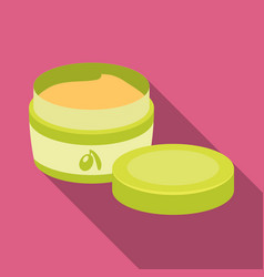 A can of olive creamolives single icon in flat vector