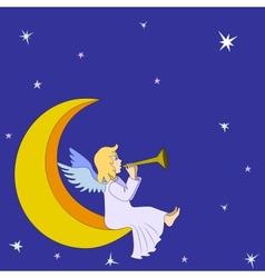 Christmas fairy angel vector image