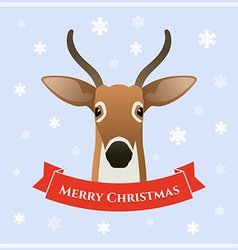 Deer with ribbon vector image vector image