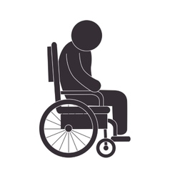 handicapped wheelchair assistance vector image vector image