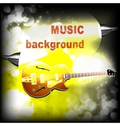 Jazz guitar with lightening and sparks vector image