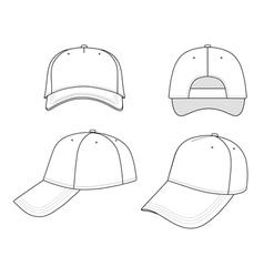 outline cap vector image vector image