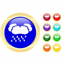 rain icons vector image vector image