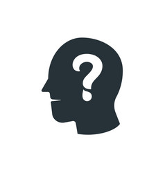 simple business of question mark human head icon vector image