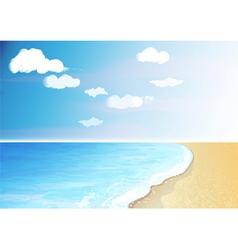 Tropical beach and ocean vector image