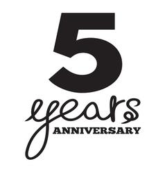 5 years anniversary vector