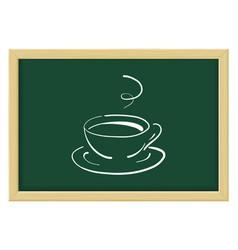 a cup coffee or tea sketch vector image