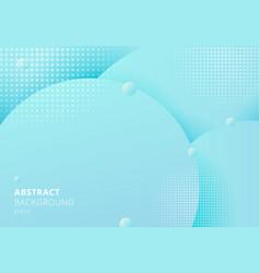 abstract 3d liquid fluid circles blue pastels vector image