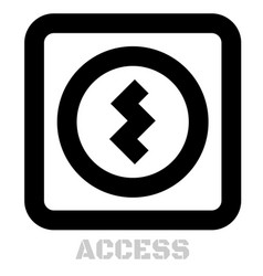 access conceptual graphic icon vector image