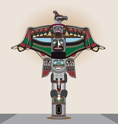 American Indian column vector
