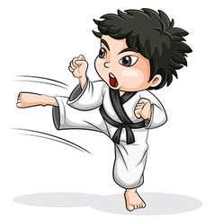 An Asian taekwondo player vector image