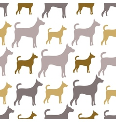 Animal seamless pattern of dog silhouettes Endless vector image