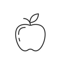 apple outline icon on white background vector image