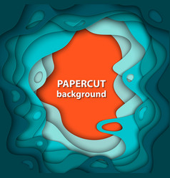 background with colorful paper cut shapes 3d vector image