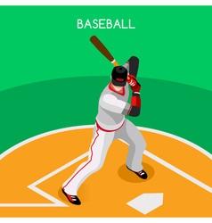 Baseball 2016 championship isometric 3d vector
