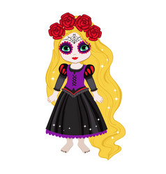 beautiful halloween princess vector image