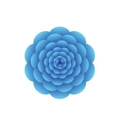 Blue flower vector image