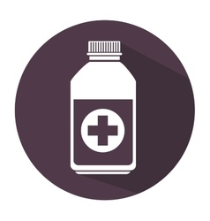 bottle medicine care icon vector image