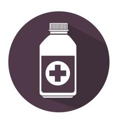 Bottle medicine care icon vector
