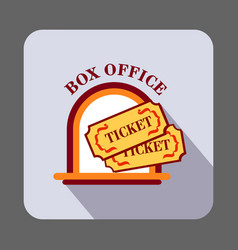 Box office ticket concept background cartoon vector