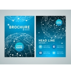 Brochure Design in A4 Size vector image