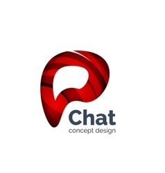 Business logo template - chat cloud vector image