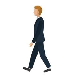 Businessman walking icon vector