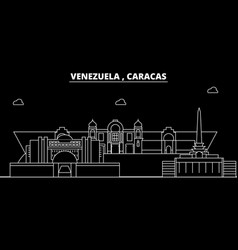 caracas silhouette skyline venezuela - caracas vector image
