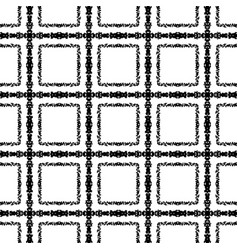 checkered seamless pattern black and white vector image
